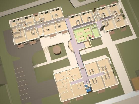 Les Jardins du Comte: Vue 3D du niveau RdC