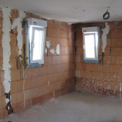 Vue niveau RdJ: fenêtres avec volet élec