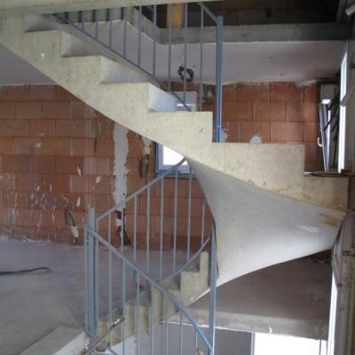 Vue escalier et dalles