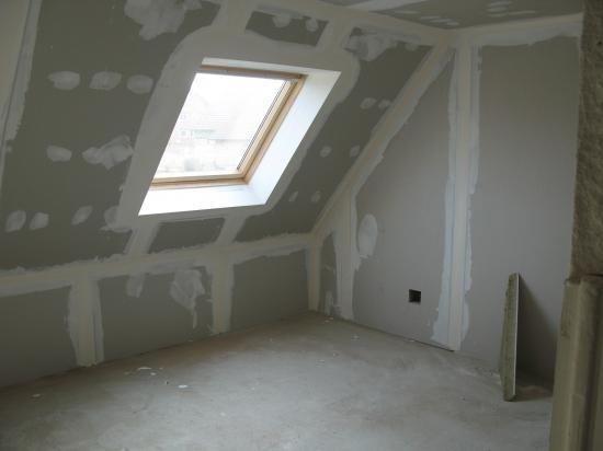 chambre: travaux plâtrerie