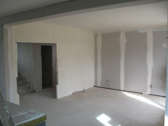 Salon: travaux plâtrerie