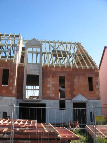 Maison A4 charpente en cours