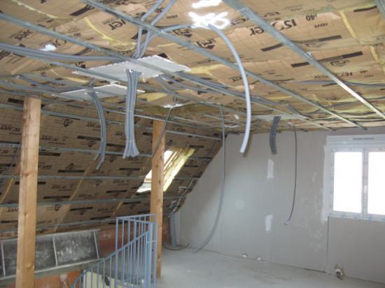 Pose réseau électrique étage 1