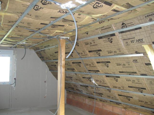 Pose réseau électrique étage 2