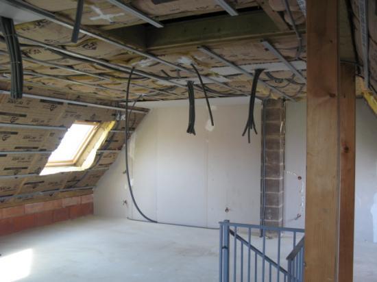 Pose réseau électrique étage 4