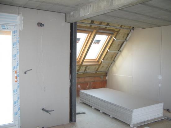 MaisonA1 Salon : Travaux Platre+Isolation murs ext14.03.30